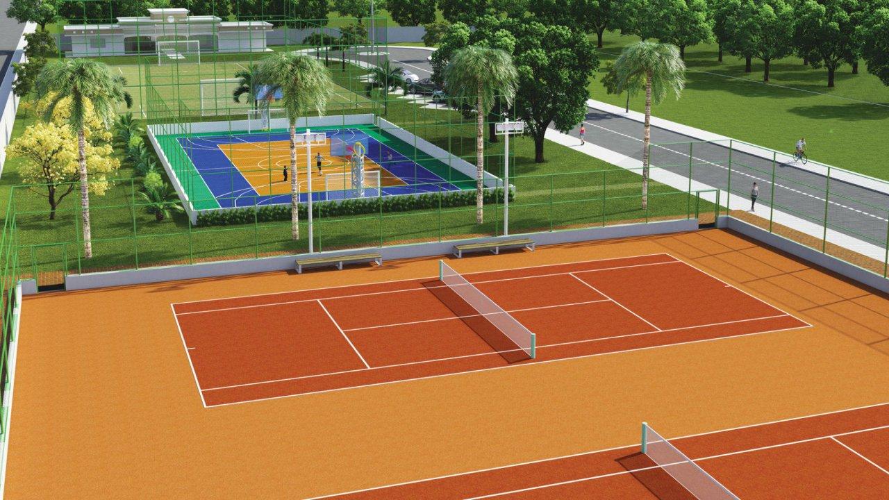 Quadras de Tênis, Polyesportiva e Socyte
